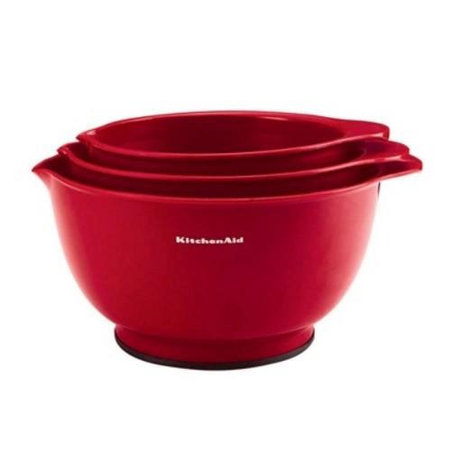 KitchenAid Classic Mixing Bowls Red (Set of 3)