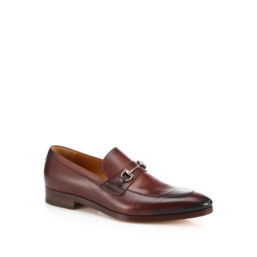 Burnished Leather Bit Loafers