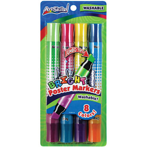ArtSkills Double-Sided Neon Markers, Assorted, Pack Of 4