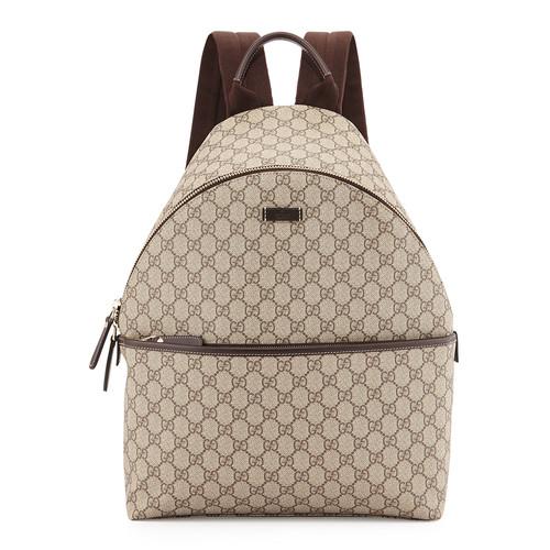GUCCI Gg Supreme Canvas Backpack, Beige