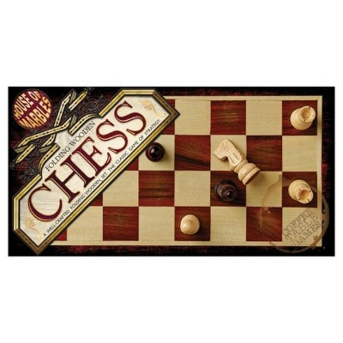 Folding Wooden Chess Game by House of Marbles