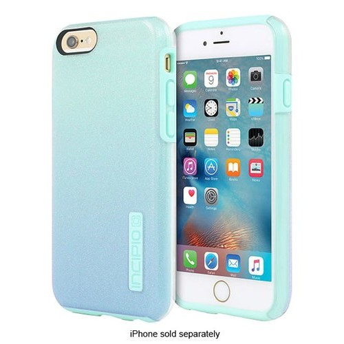 Incipio - DualPro Glitter Hard Shell Case for Apple iPhone 6 Plus and 6s Plus - Mint