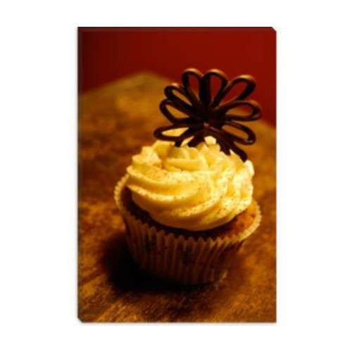 iCanvas Food and Cuisine Chocolate Cupcake Photographic Print on Canvas; 26'' H x 18'' W x 0.75'' D