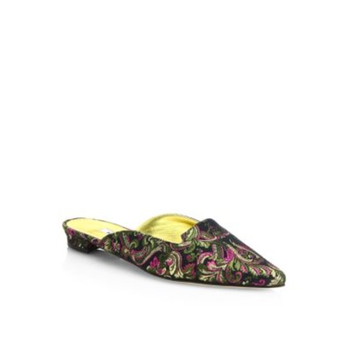 Ruby Embroidered Point Toe Mules