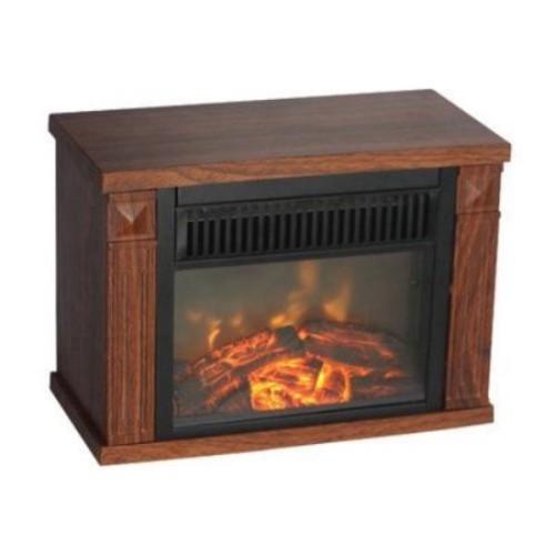 Comfort Glow - The Mini Hearth Electric Fireplace (Wood Grain) - Wood Grain