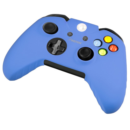 Insten Rubber Silicone Skin Gel Case Cover Compatible With Microsoft Xbox One, Blue