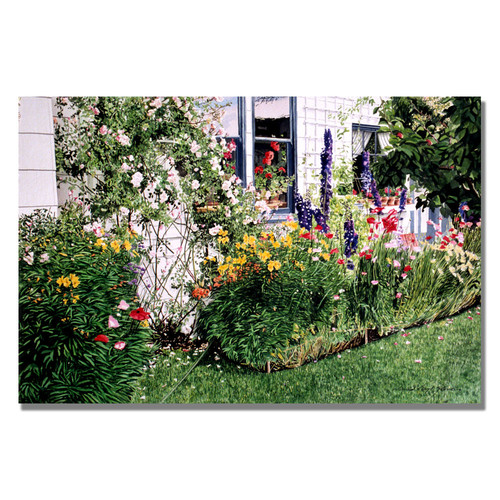 Trademark Global David Lloyd Glover 'The Tangled Garden' Canvas Art [Overall Dimensions : 16x24]