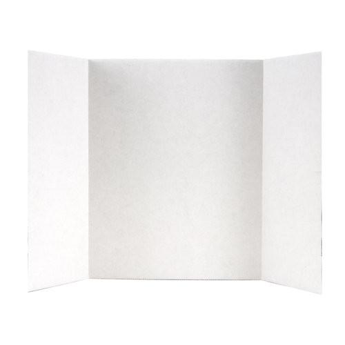 Elmers Tri-Fold Display Board, 14 X 22-Inch, White [14 L x 22 W in]