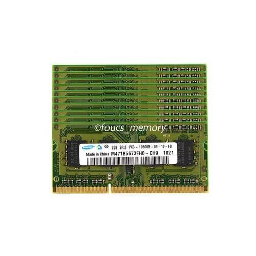 Samsung 10pcs 2GB PC3-10600 DDR3-1333MHz 204Pin Laptop Sodimm Memory Ram NON-ECC