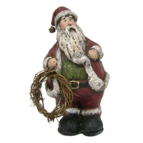 Craft Outlet Antique Snowman Holding Wreath