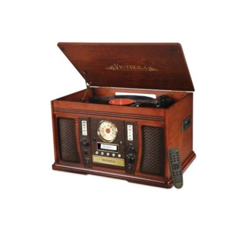 Innovative Technology - Victrola Wood 7-In-1 Nostalgic Bluetooth Record Player
