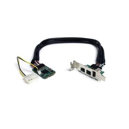 StarTech.com 3 Port 2b 1a 1394 Mini PCI Express FireWire Card Adapter (MPEX1394B3)