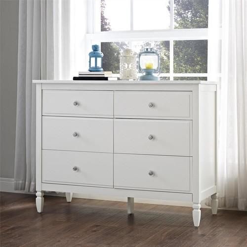 Dorel Vivienne 6-Drawer White Dresser