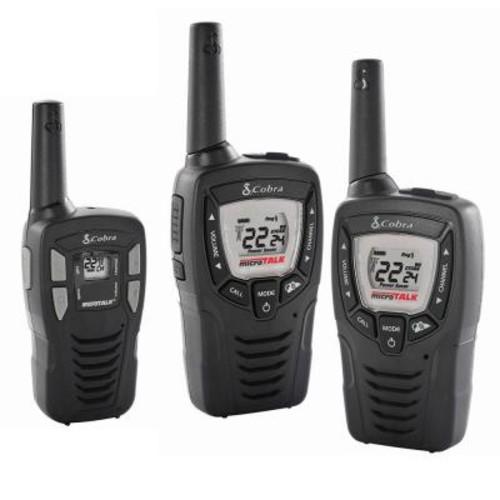 Cobra 23-Mile Range 2-Way Radio Pair Plus Bonus 16-Mile Range Radio