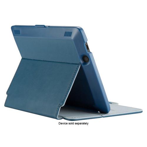 Speck - StyleFolio Case for Kindle Fire HDX - Deep Sea Blue/Nickel Gray