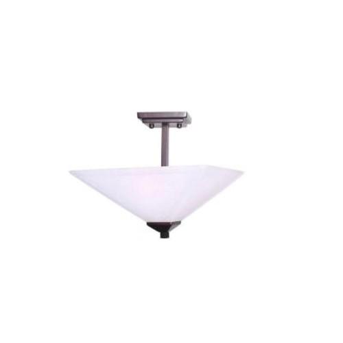 Design House Torino 2-Light Brushed Bronze Semi Flush Mount