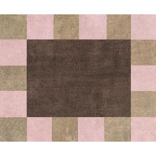 Sweet Jojo Designs Soho Pink and Brown Collection Floor Rug
