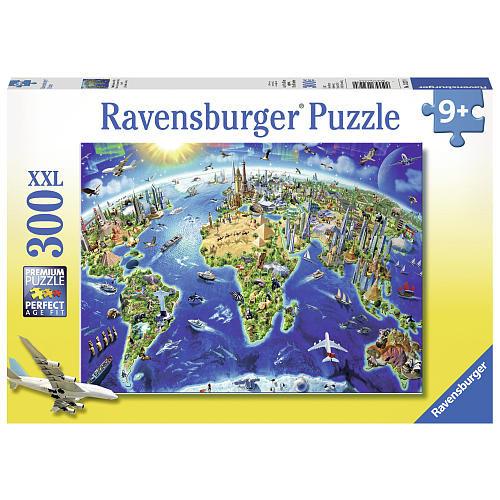 Ravensburger World Landmarks Map Jigsaw Puzzle - 300-Piece