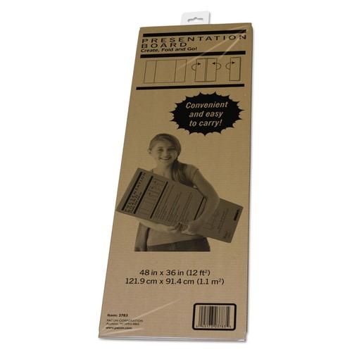 Spotlight Corrugated Presentation Display Board, White, 48 x 36-3783