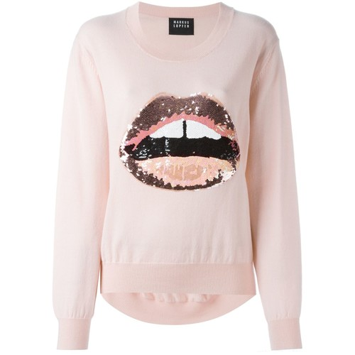 MARKUS LUPFER Sequined Lips Jumper