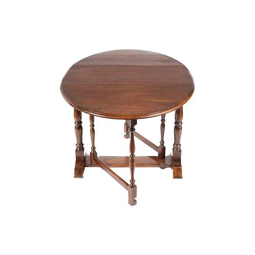 1930s English Gate-Leg Dining Table