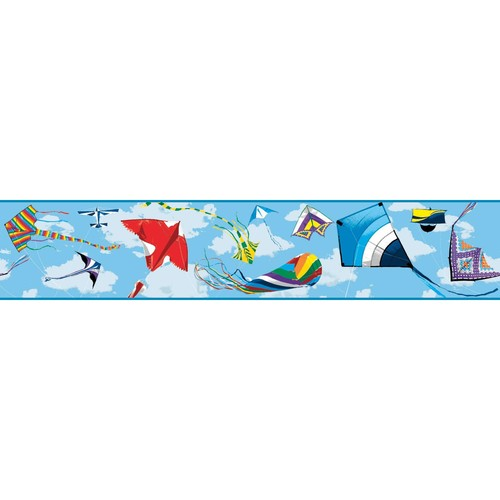 York Wallcoverings Growing Up Kids Color The Wind Removable Wallpaper Border