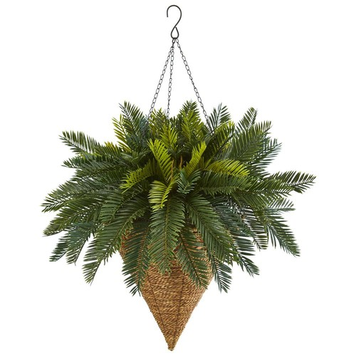 Nearly Natural Cycas Hanging Basket Artificial Plant