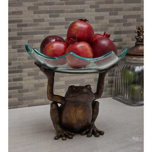 10 in. x 12 in. Serving Toad Decorative Bowl