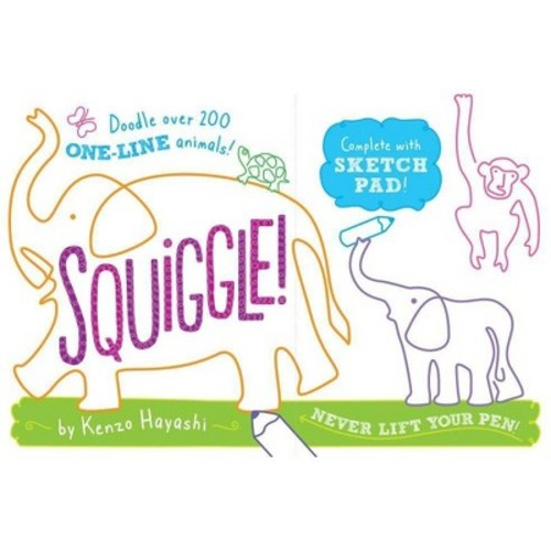 Squiggle! : Doodle over 200 One-Line Animals! (Paperback) (Makie Nakamura)