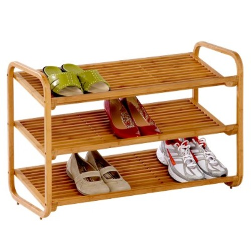 Honey-Can-Do 3-Tier Deluxe Bamboo Shoe Rack