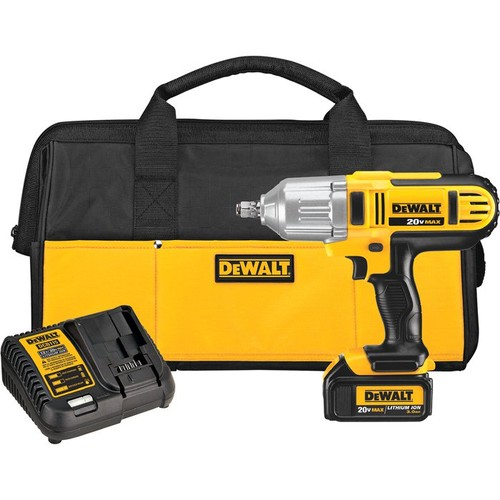 DEWALT 20V MAX Lithium-Ion Cordless 1/2in. Impact Wrench Kit  Hog Ring Anvil, 400 Ft.-Lbs. Torque, 1 Battery, Model# DCF889HL1