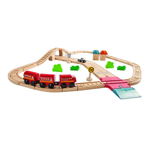 PlanToys Road & Rail Set