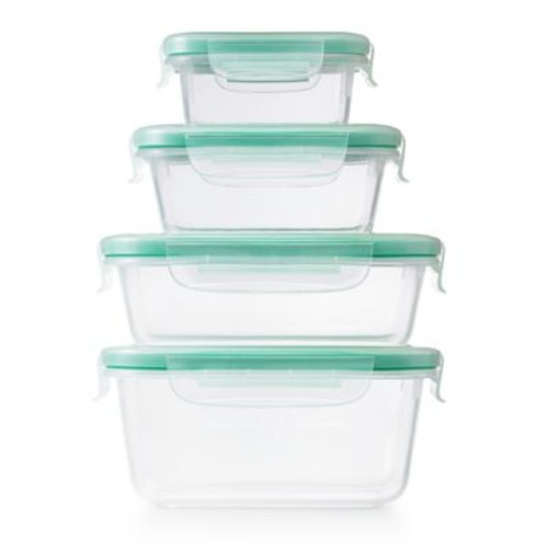 OXO Good Grips Smart Seal 20-Piece Plastic Container Set in Clear/Green