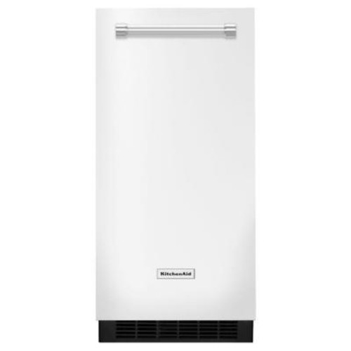 KitchenAid 15 in. 51 lbs. Built-In or Freestanding Ice Maker in White