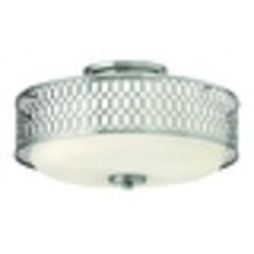 Hinkley Lighting 53241-GU24 3 Light Title 24 Fluorescent Semi-Flush Ceiling Fixture from the Jules Collection