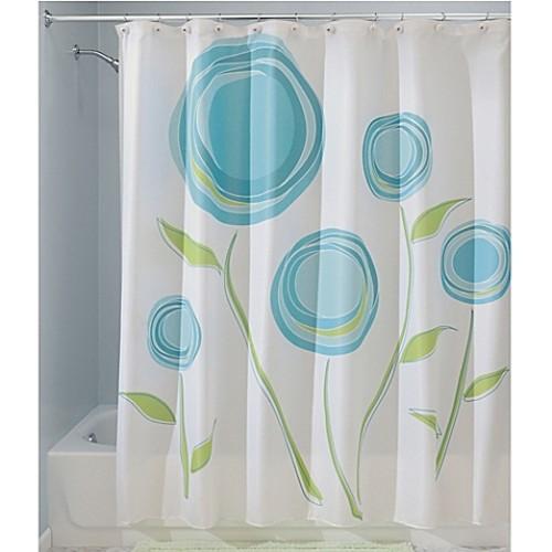 InterDesign Marigold Shower Curtain in Blue/Green