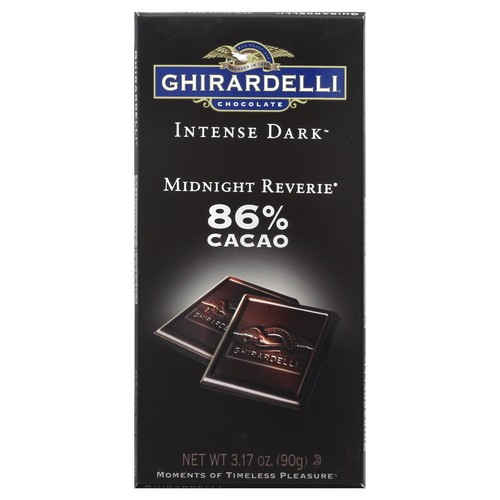 Ghirardelli Chocolate Dark Chocolate, Midnight Reverie, 86% Cacao 3.17 oz (90 g)
