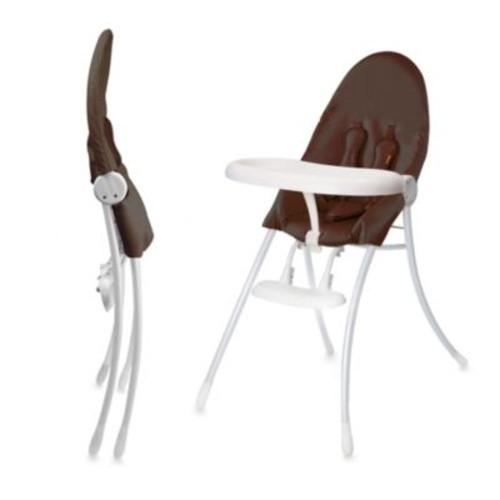 bloom nano Urban High Chair in White/Henna Brown
