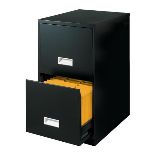 Basic File Cabinet 2 Drawer Black