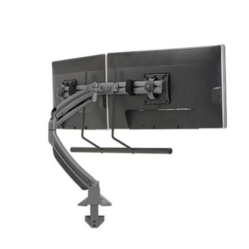 Kontour K1D Dynamic Desk Clamp Mount with Dual Monitor Array (Black)