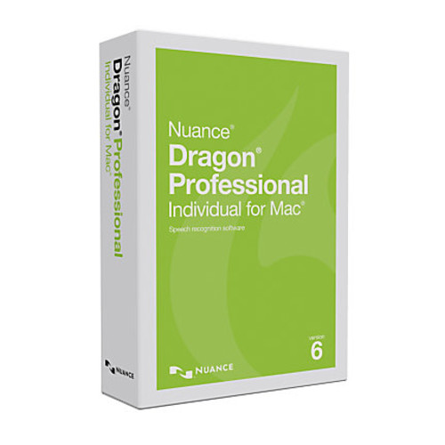Nuance Dragon Professional Individual, v6, For Mac, Traditional Disc