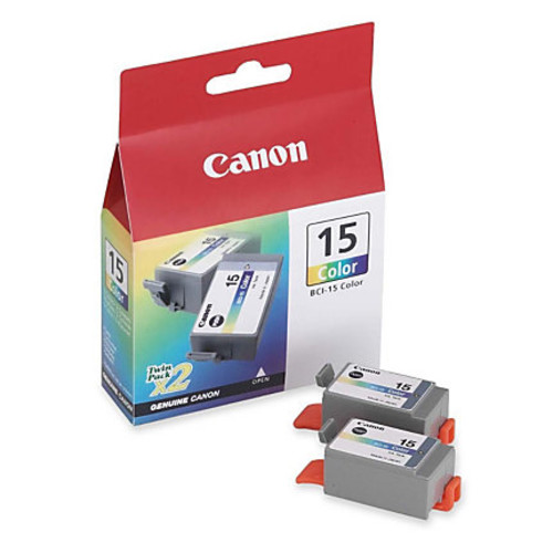 Canon BCI-15C Tricolor Ink Tanks (8191A003), Pack Of 2