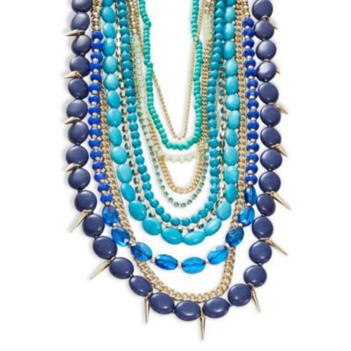 Chokers Reconstituted Turquoise Multi-Row Necklace