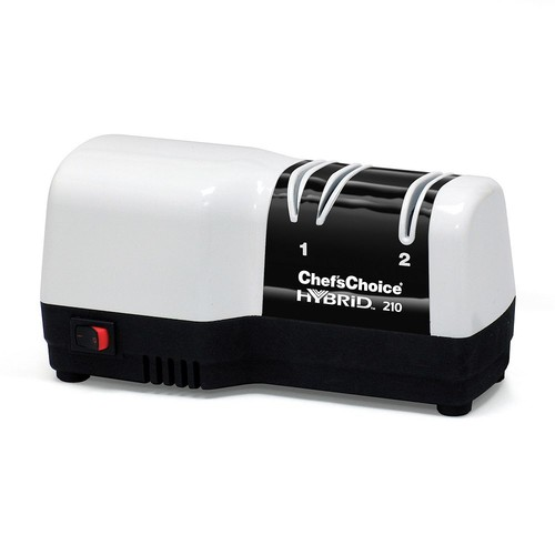 Chef's Choice 210 Hybrid Diamond Hone 2 Stage Knife Sharpener, White and Black [White/Black, One Size]