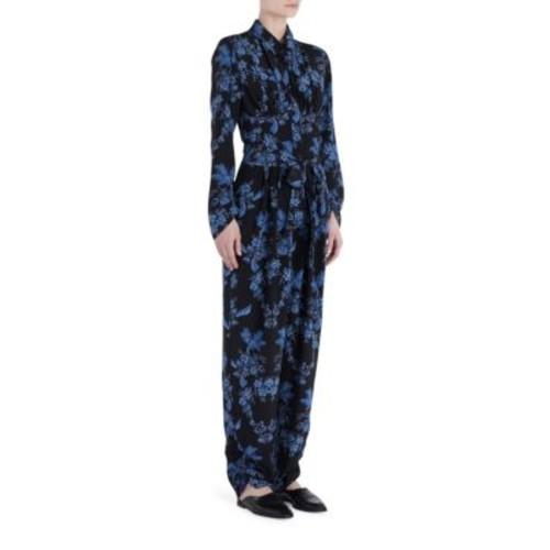 STELLA MCCARTNEY Silk Floral Print Jumpsuit