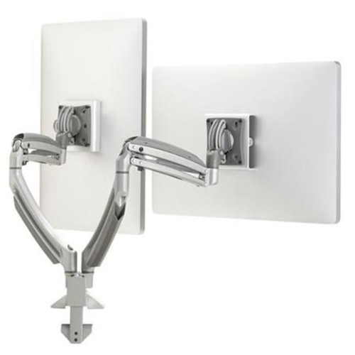Chief K1D220S Kontour K1D Dynamic Desk Mount, 2 Monitors - Silver K1D220S