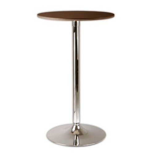 Winsome Kallie Pub Table in Chrome/Cappuccino