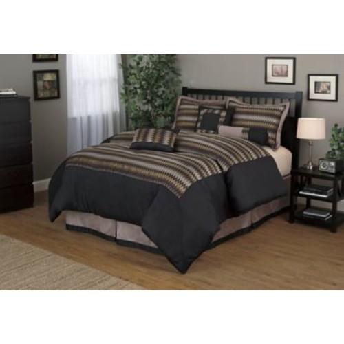 Nanshing America, Inc Prescott 7 Piece Comforter Set; Queen