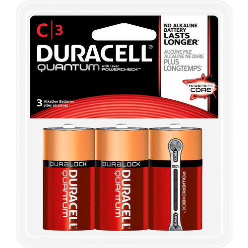 Duracell Quantum C Size Battery - 3 Pack