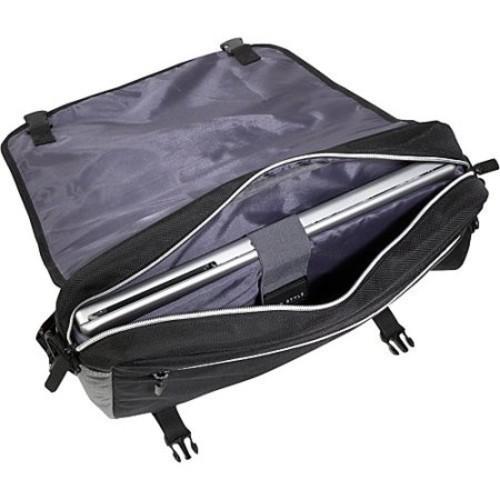 ECO STYLE Sports Voyage Laptop Messenger [Black/Platinum]